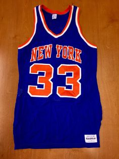 Vintage 1980s Patrick Ewing New York Knicks Sand Knit Jersey Size 38 shirt  charles oakley nba penny hardaway latrell sprewell 36 40 champion f86871897