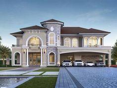 Classic House Exterior, Classic House Design, Modern Exterior House Designs, Modern House Design, Home Modern, Dream House Exterior, Interior Modern, Interior Design, Luxury Interior