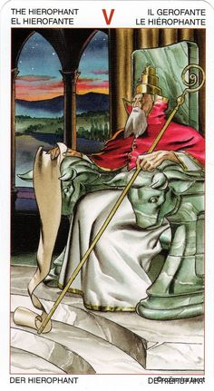 V. T he Hierophant - Initiatory Tarot of the Golden Dawn by Giordano Berti, Patrizio Evangelisti