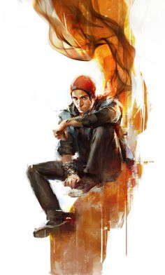 Infamous Second Son.. I can't wait for this game So epicnessness...Beautiful art, man. -Will