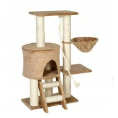Have to have it. Go Pet Club Cat Tree - Beige - 38 in. - $64.99 @hayneedle.com