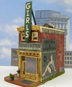Topless Bar HO Scale Building ~ Diorama Miniatures