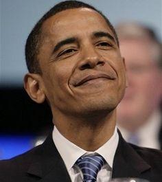 obama head up, smiling