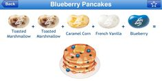 Blueberry Pancake Jelly Belly Flavor Recipe Bean Recipes, Candy Recipes, Jelly Belly Flavors, Combo Recipe, Food Plus, Belly Belly, Caramel Corn, Blueberry Pancakes, Ice Cream Cookies