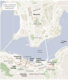 The Political Geography of Hong Kong - start with this to map political protests and then have students choose other events to map. Political Geography, Photo Link, Social Change, Lunges, Social Studies, Hong Kong, The Neighbourhood, Politics, City