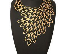 Laser Cut Leather - Geometric necklace
