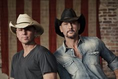 Kenny Chesney & Tim McGraw...TWO HOTTIES!! Love them both..Oh, & I hugged Tim before;) teeheheeee, I always have to say that, cuz I'm proud of it..hahaha