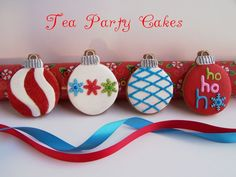 Gingerbread Christmas Ornaments by Tea Party Cakes