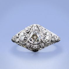 Here is a simply stunning, and all original platinum and diamond ring from the early 1900s.