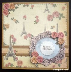 Card designed by Georgina Ford using Postcard from Paris paper pad by Craftwork Cards.