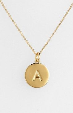 Want the letter K (obviously) Kate Spade New York 'one In A Million' Initial Pendant Necklace
