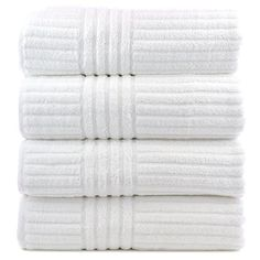 Bare Cotton Luxury Hotel and Spa Bath Towels, Striped, White, Set of 4 Bare Cotton http://www.amazon.com/dp/B00ME62ZMO/ref=cm_sw_r_pi_dp_hCo5wb0TND9QV