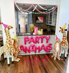 Party Animals 🦒🦓🐘🥳 Not only are our Giant Stuffed Animals adorable, they also make great party guests! We love this birthday decor idea by @mal.corley  #partyinspiration #partydecorations #partystyling #birthdaydecoration #birthdaydecor #melissaanddoug #kidsbirthday Safari Theme Birthday, Birthday Party Themes, Birthday Wishes, Party Animals, Animal Party, Cute Animals, Giant Stuffed Animals, The Ultimate Gift, Party Guests