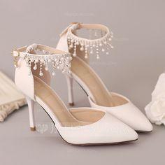 Zapatos de tac/ón Elara Spitze Damen Pumps elegantes Bequeme Lack Stilettos