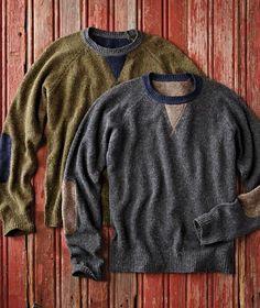 Advanced Tweed Sweater-Carbon 2 Cobalt