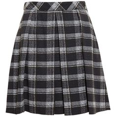Proenza Schouler Checked Crepe Skirt featuring polyvore, fashion, clothing, skirts, black, proenza schouler, crepe skirt, proenza schouler skirt, black knee length skirt and checkerboard skirt