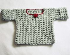 Crochet PATTERN pdf file  The Rose Baby Sweater by monpetitviolon, $4.99
