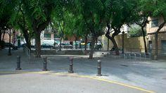 La plaça Pirineos,Hospitalet,2014