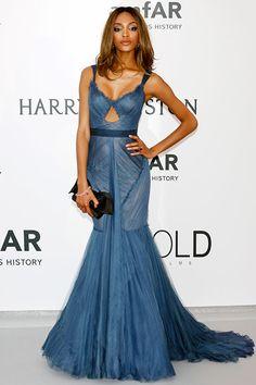 2015 Cannes Film Festival amFAR Gala - Jourdan Dunn in Vera Wang