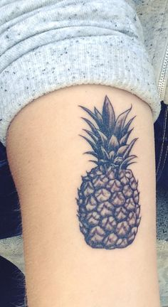 Pineapple Tattoo symbolizing Friendship, done in Studio City, CA by Emily Anne ❤️