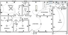 Nice Electrical Plan For Home Office Picture: WilshireImages/iStock; ChristianChan/iStock Design and Decor electrical plan for residence workplace. Basic Electrical Wiring, Electrical Circuit Diagram, Electrical Symbols, Electrical Layout, Electrical Engineering, Bungalow, Floor Plan Symbols, Residential Electrical, House Wiring