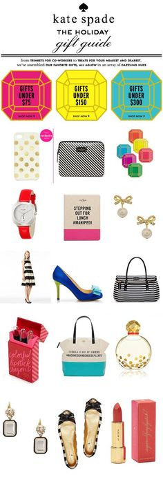 The Kate Spade Gift Guide! So many great gift ideas. And affordable too! I love it all!
