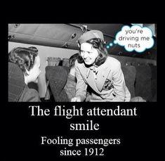 Flight Attendant smile...