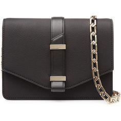 Victoria Beckham Mini Satchel Leather Shoulder Bag (23 525 UAH) ❤ liked on Polyvore featuring bags, handbags, shoulder bags, black, black satchel bag, mini satchel, black purse, leather satchel and leather handbags
