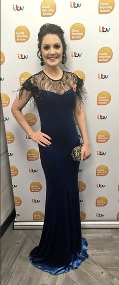 """""""On my way to ready to be inspired & moved. My first one as a mummy-I think it'll be much more emotional & touching. Think I'll cry a lot! 😭 Tissues at the ready 🤧 Thank you glam squad. New Mummy, Good Morning Britain, New Readers, Very Lovely, Formal Dresses, Weather, How To Wear, Cry, Squad"""