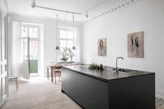 Minimalistic kitchen design in a Swedish Apartment