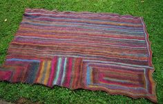 A Simple Striped Blanket: all done | Flickr - Photo Sharing!