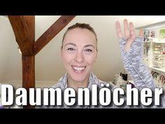 Bündchen mit Daumenlöchern nähen - mit Anna von einfach nähen - YouTube
