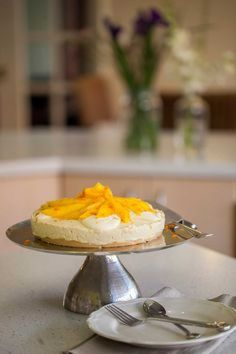 Orange and Mango Cheesecake - Cooking with Tenina #thermomix #recipe