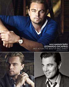 Oscar-Nominated Hotties: Leonardo Dicaprio. Best Actor, The Wolf of Wall Street.