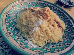 Seffa Medfouna, traditional Moroccan dish.
