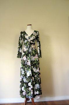 #Vintage #Dress / 70's #floral maxi dress