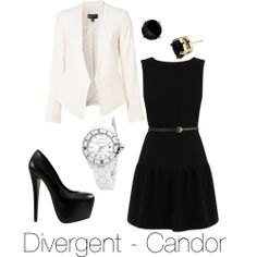 Divergent inspired outfit - Candor (Black and White)