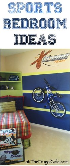 Sports Bedroom Theme Ideas   At TheFrugalGirls.com