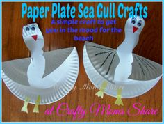 Crafty Moms Share: An Easy Paper Plate Sea Gull Craft