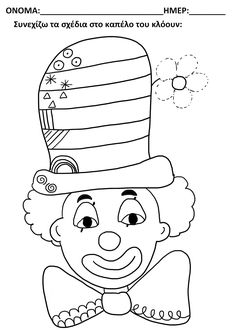 Risultati immagini per carnaval_activite_maternelle Circus Crafts, Carnival Crafts, Theme Carnaval, Diy And Crafts, Crafts For Kids, Send In The Clowns, Circus Theme, Starting School, Adult Coloring Pages