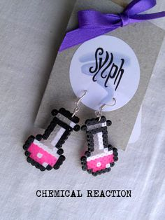 Earrings made of Hama Mini Beads Chemical by SylphDesigns on Etsy €5.00