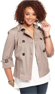 Plus Size Military Jacket