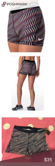 🎉🎊Nike Pro Shorts🔥🎊 ⤵️PLEASE READ⤵️ No Trades. No Holds.   Please submit all offers via offer button.  Brand new with tags. Size XLarge (women's)  I'm open to reasonable offers   I inspect all my items before I ship them out so please be sure to read descriptions before purchasing to prevent any miscommunication. Nike Shorts
