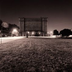 Michigan Central Station est. 1913; closed in 1988 and has been deteriorating ever since. One of the most beautiful buildings in Detroit. The first time I saw it I fell in love and have wanted to photograph it ever since.  I'm glad someone did.