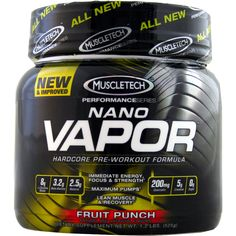 MuscleTech Nano Vapor Punch Performance 1.23 lbs   Regular Price: $64.99, Sale Price: $44.99   OvernightSupplements.com   #onSale #supplements #specials #MuscleTech #PreWorkout    Hard Core Pre Workout Formula Nano Vapor The Strongest Pre Workout Formula Ever Developed Nano Vapor is the first pre workout to deliver the unique and innovative combination of ingredients found in its formula It supplies key ingredients that have been dosed based on human clinical research and del
