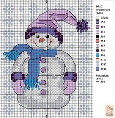 Snowman #CrossStitch #CraftPattern