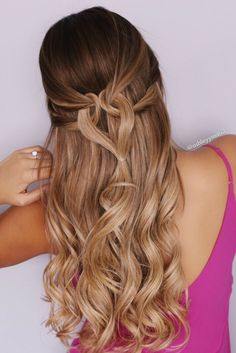 valentines day hairstyles, heart hairstyles, blonde, caramel blonde, ombre blonde, inspo, foxy locks, extensions, prom hairstyles, half up hairstyle