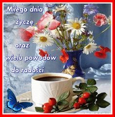 1288.gif (488×499) Coffee Images, Good Morning, Christmas, Painting, Humor, Coffee Time, Polish, Pictures, Buen Dia
