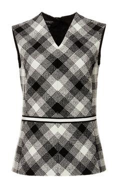 Virgin Wool Sleeveless Checkered Top by GIAMBATTISTA VALLI Now Available on Moda Operandi