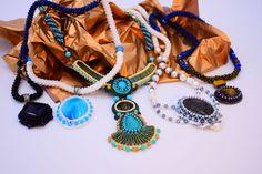 Pure Blues - Bead crocheted handmade necklaces  https://micuka.com/Category_Pure_Blues.html
